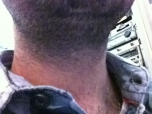 The neck of Joe Brown